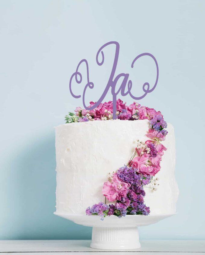 "Cake Topper ""Ja"""