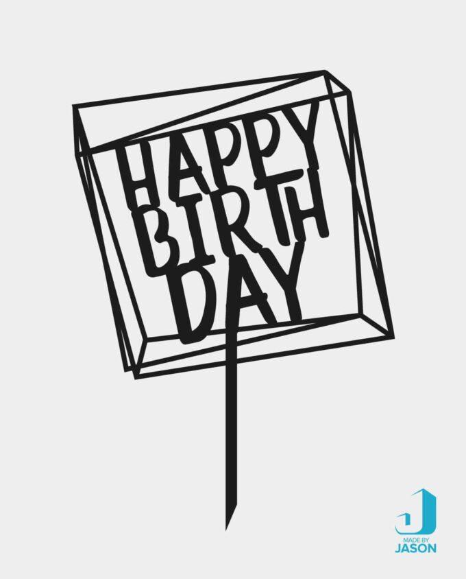 Cake Topper Happy Birthday in verschiedenen Farben und Materialien