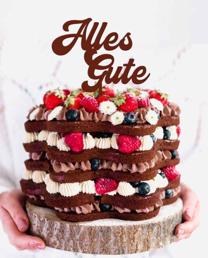 CakeTopper Alles Gute
