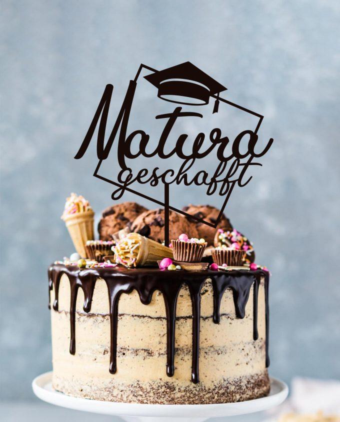 Cake Topper Matura geschafft