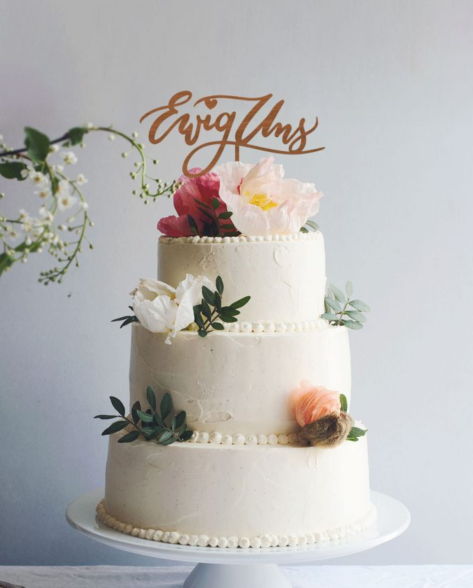 Cake Topper Ewig uns