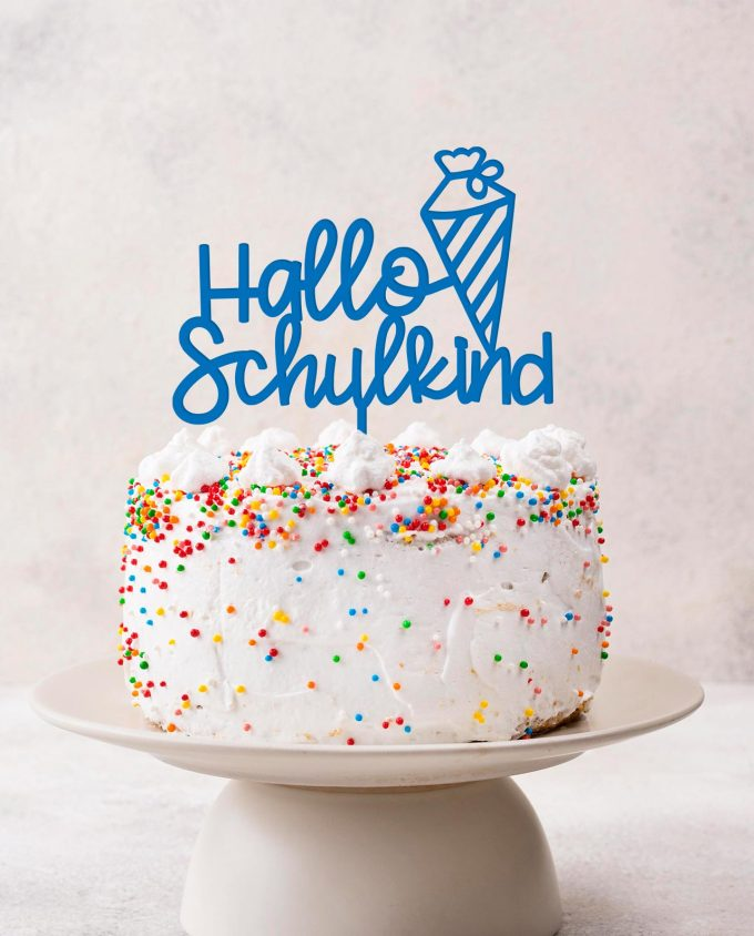 Cake Topper Schulkind