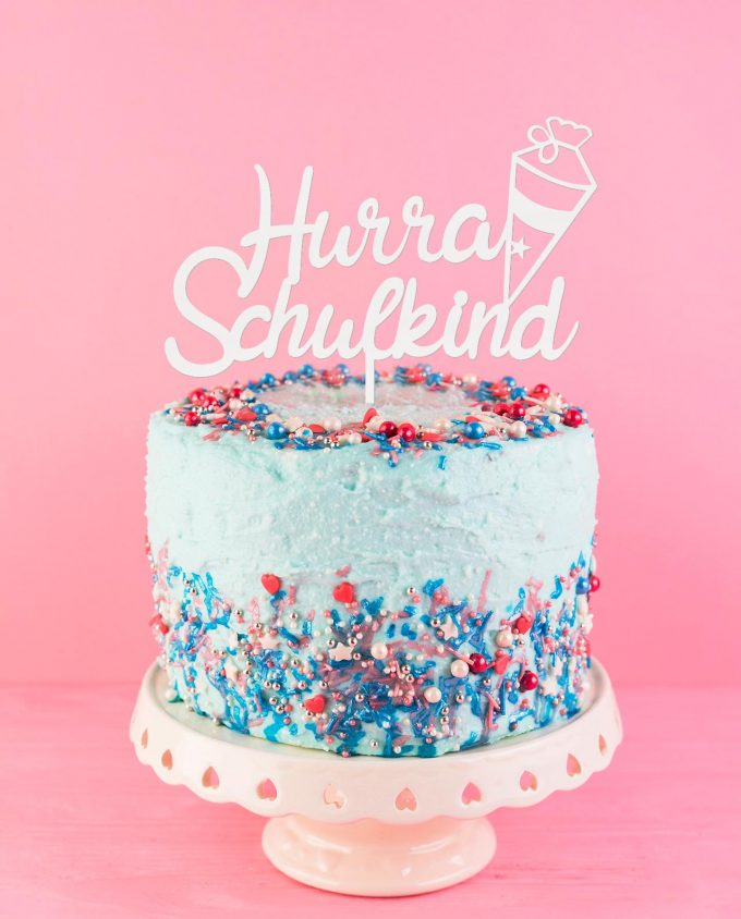 Cake Topper Schulanfang