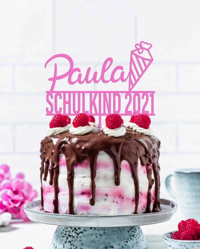 Cake Topper Schulkind personalisiert