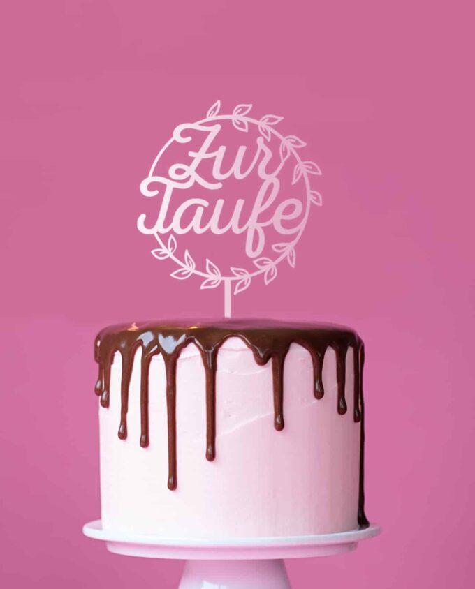 Cake Topper Zur Taufe