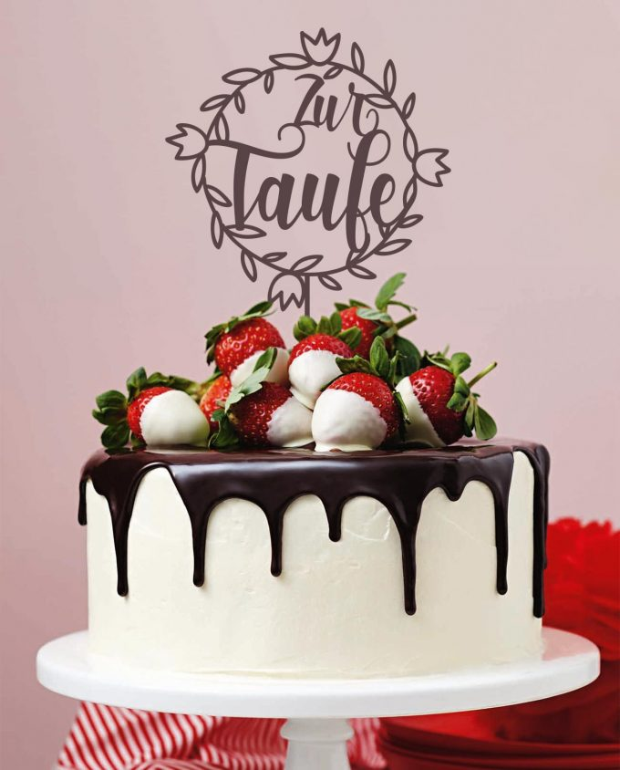 CakeTopper Taufe