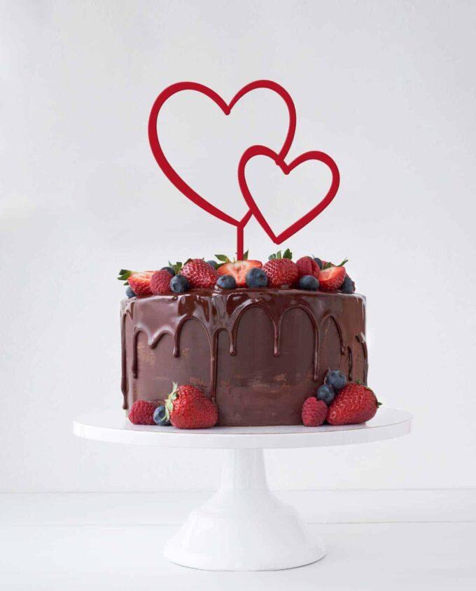 CakeTopper DoppelHerz