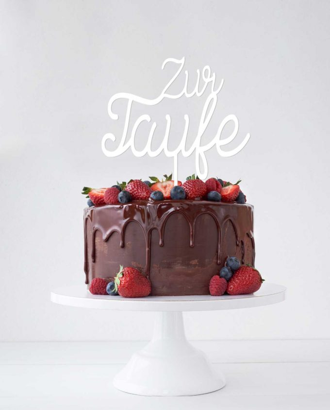 Cake Topper Taufe