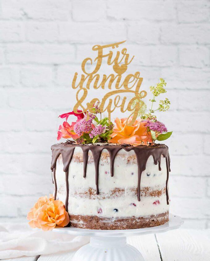 Cake Topper Für immer & ewig - Hochzeit