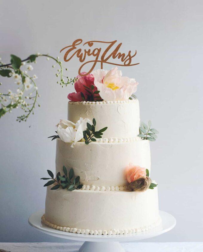 Cake Topper Ewig uns - Hochzeit