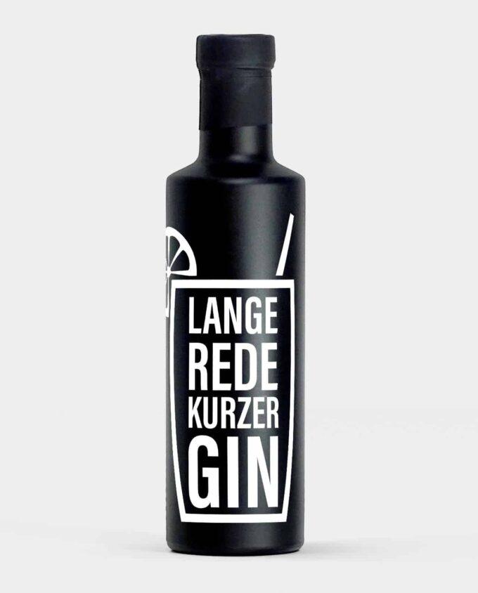 Premium Gin - personalisiert - Lange Rede kurzer Gin
