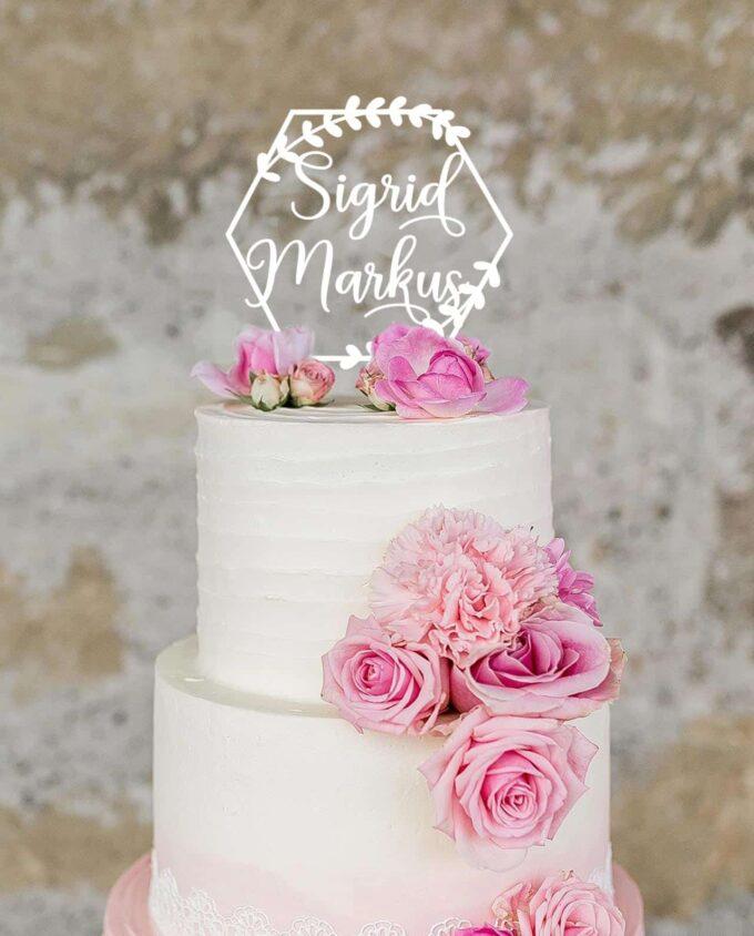 Cake Topper Polygon personalisiert